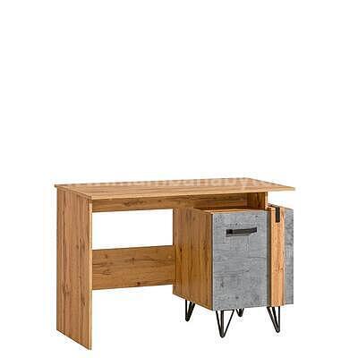 Loft 09, psací stůl, dub wotan/beton - 1