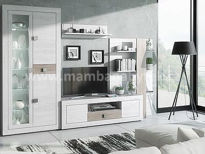 Mischelle, obývací stěna, pinie bílá Andersen - 1