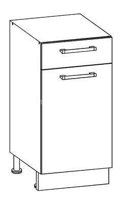 White, kuchyňská skříňka dolní W13/D40S1, bílý lesk - 1