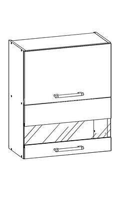 White, kuchyňská skříňka horní W08/G60, bílý lesk - 1