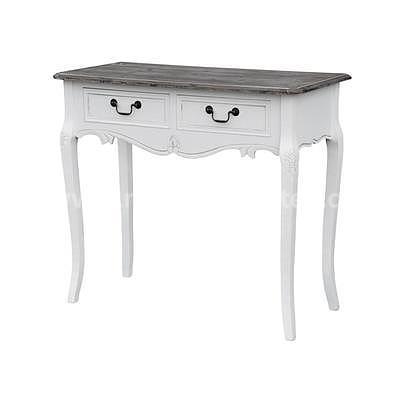 Rimini White 16W, stolek s šuplíky bílá/hnědá
