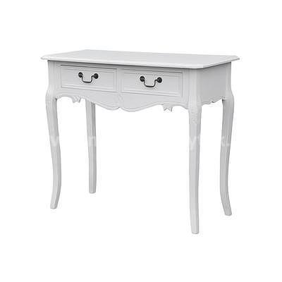 Rimini White 16A, stolek s šuplíky bílá/bílá