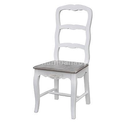 Rimini White 28W, židle bílá/hnědá