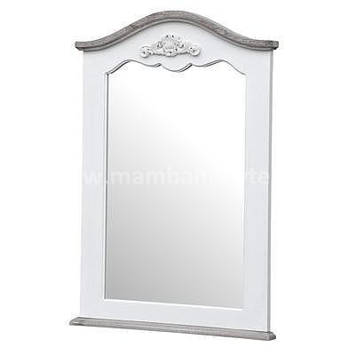 Rimini White 53W, zrcadlo bílá/hnědá