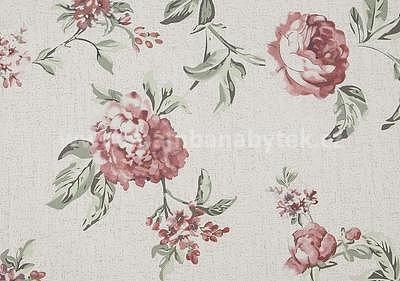 potahová látka Rose 16, růžové květy