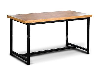 BERGAMO, jídelní stůl, dub/černá