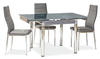 GD-082, jídelní stůl sklo šedé/chrom