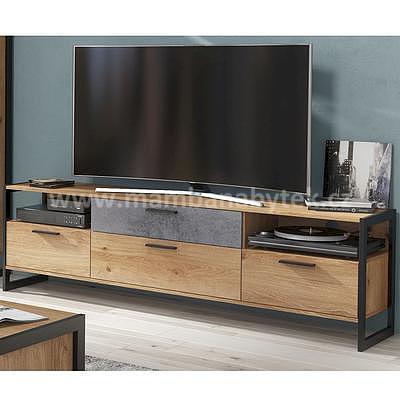 Iron, televizní stolek, dub zlatý/grafit
