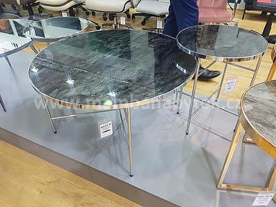 Ibiza C, odkládací stolek tvrzené sklo/stříbrná - 2