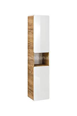 Aruba II 80, koupelnová sestava bílá lesklá + umyvadlo - 2