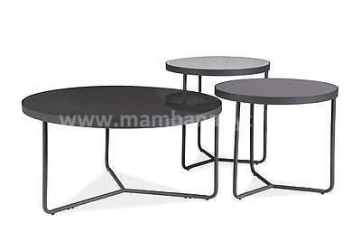 Artemida, konferenční stolek šedá/černá - 2