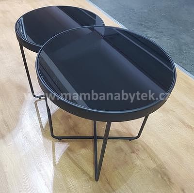 Atena, odkládací stolek černá/černá - 2