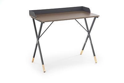 Benjamin, psací stůl, ořech/černá/zlatá - 2