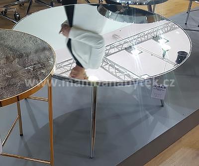 Bora B, konferenční stolek zrcadlo/chrom - 2