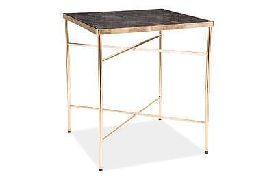Cali, odkládací stolek tvrzené sklo/zlatá - 2