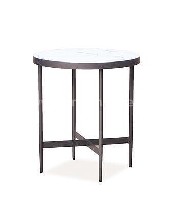 Dolores C, odkládací stolek imitace mramoru/šedá - 2