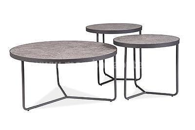 Demeter, konferenční stolek beton/černá - 2