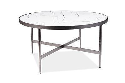 Dolores B, konferenční stolek imitace mramoru/šedá - 2