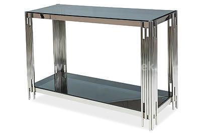 Fossil C, konferenční stolek kouřové sklo/stříbrná - 2