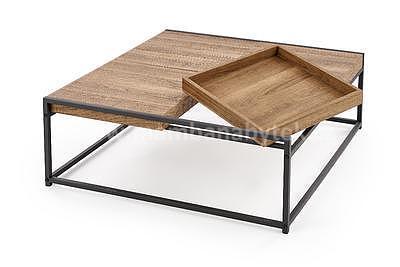 Fregata, konferenční stolek, ořech medový/černá - 2