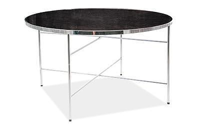 Ibiza B, konferenční stolek tvrzené sklo/stříbrná - 2