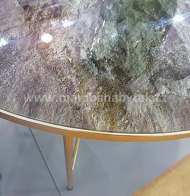 Ibiza B, konferenční stolek tvrzené sklo/zlatá - 2