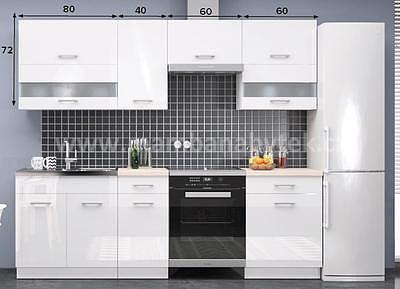 White, kuchyňská linka 240 cm - 2