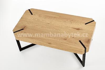 Lavida, konferenční stolek, dub zlatý/černá - 2