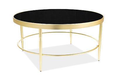 Mystic B, konferenční stolek tvrzené sklo/zlatá - 2