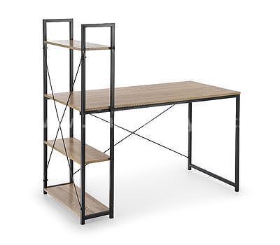 Bruno, psací stůl, dub sonoma/černá - 2