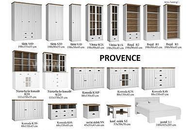 Provence K6S, televizní stolek - 2