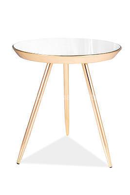 Bora C, odkládací stolek zrcadlo/zlatá - 2
