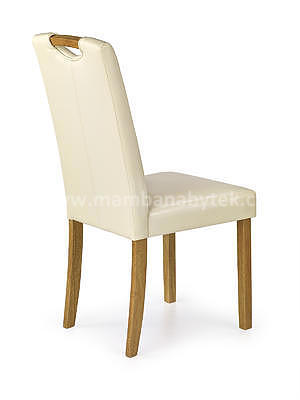 židle Caro, buk/krémová - 2