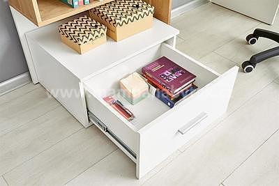 Grosso, psací stůl, dub zlatý/bílá - 2