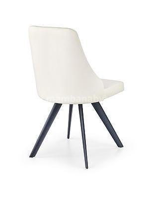 židle K206, černá/bílá - 2