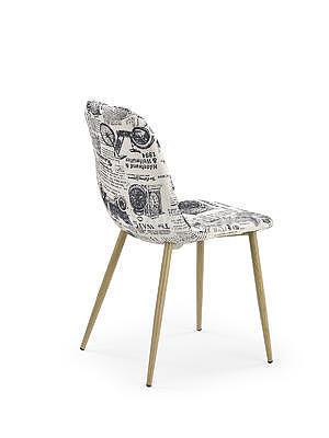 židle K220, bílá s potiskem - 2