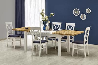 Leonardo/Bergamo, jídelní set stůl+4 židle - 2