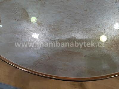 Fortuna C, odkládací stolek tvrzené sklo/zlatá - 3