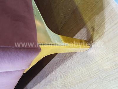 Monako, 160x200 cm, antická růžová sametová - 3
