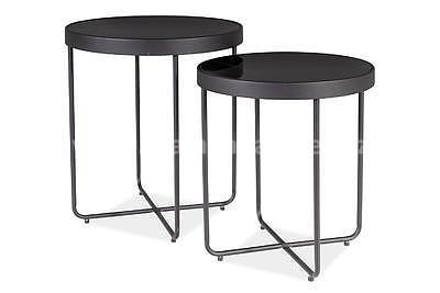 Atena, odkládací stolek černá/černá - 3
