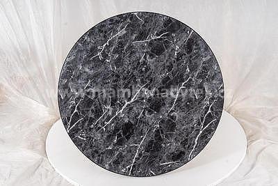 Amulet, konferenční stolek mramor/černá - 3
