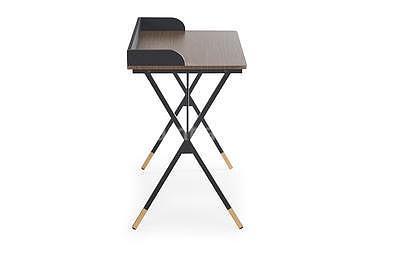 Benjamin, psací stůl, ořech/černá/zlatá - 3