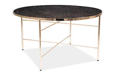 Ibiza B, konferenční stolek tvrzené sklo/zlatá - 3