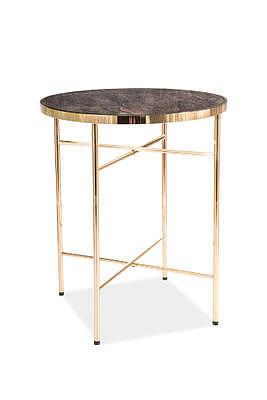 Ibiza C, odkládací stolek tvrzené sklo/zlatá - 3
