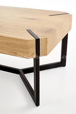 Lavida, konferenční stolek, dub zlatý/černá - 3