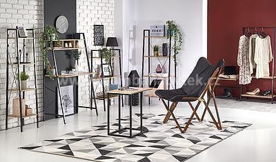 Bruno, psací stůl, dub sonoma/černá - 3
