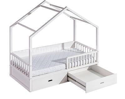 Viki, postel ve tvaru domu - 3