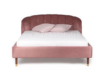 Rosie, 160x200 cm, růžová sametová - 3