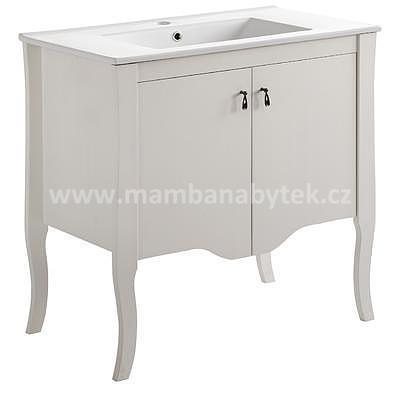 Elizabeth 80, koupelnová sestava masiv bílá + umyvadlo - 4