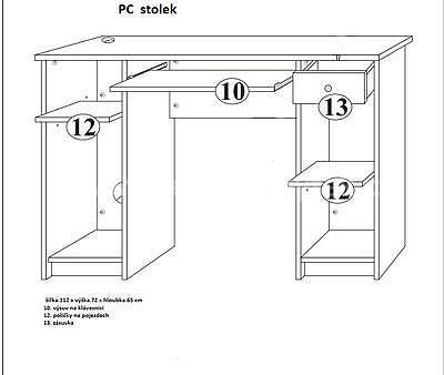 vyvýšená postel Unit, šedá/bílá - 4